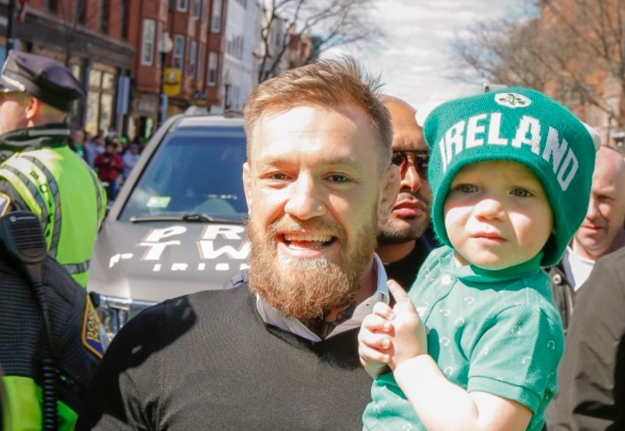 Conor McGregor and his son